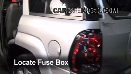 Interior Fuse Box Location: 2002-2009 Chevrolet Trailblazer - 2004