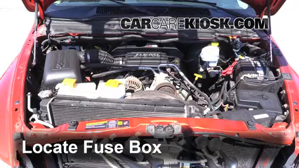 interior fuse box location: 2002-2005 dodge ram 1500