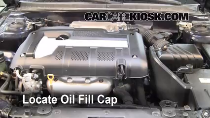 How To Add Oil Hyundai Elantra 2001 2006 2005 Hyundai