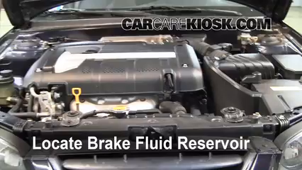 2005 Hyundai Elantra GLS 2.0L 4 Cyl. Sedan (4 Door) Brake Fluid Check Fluid Level