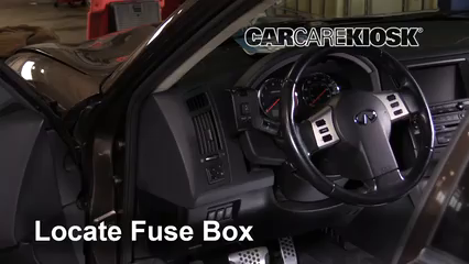 interior fuse box location 2003 2008 infiniti fx35 2006. Black Bedroom Furniture Sets. Home Design Ideas