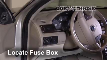 interior fuse box location 2005 2007 mercury montego 2005 2007 Mercury Montego Fuse Box