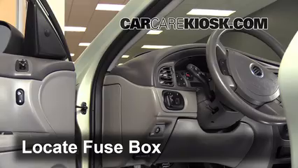 interior fuse box location 2000 2005 mercury sable 2005. Black Bedroom Furniture Sets. Home Design Ideas