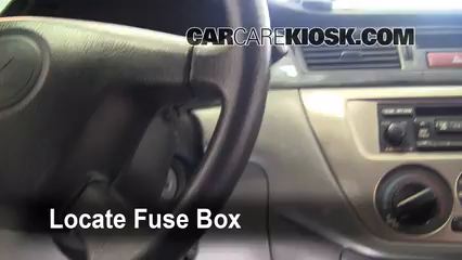 Interior Fuse Box Location: 2002-2007 Mitsubishi Lancer - 2005 ... on chevy tahoe horn wiring diagram, toyota camry horn wiring diagram, acura tl horn wiring diagram, ford f250 horn wiring diagram,