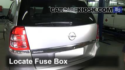 interior fuse box location 2005 2011 opel zafira 2005 Fuse Box For Opel Zafira fuse box location and diagrams opel