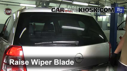 2005 Opel Zafira CDTI Cosmo 1.9L 4 Cyl. Turbo Diesel Windshield Wiper Blade (Rear)