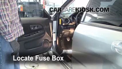 Interior Fuse Box Location 2004 2007 Subaru Impreza
