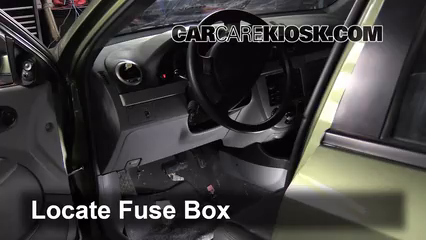 interior fuse box location: 2004-2008 suzuki forenza
