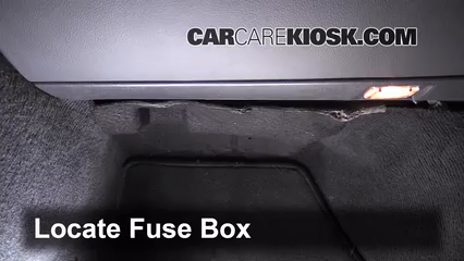 interior fuse box location: 2004-2011 volvo s40