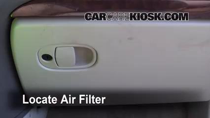 2005 Buick Rendezvous CX 3.4L V6 Filtro de aire (interior)