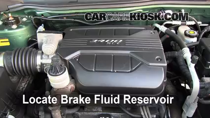 2005 Chevrolet Equinox LS 3.4L V6 Brake Fluid Check Fluid Level