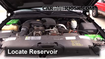 2005 Chevrolet Silverado 2500 HD 6.6L V8 Turbo Diesel Extended Cab Pickup (4 Door) Liquide essuie-glace Vérifier le niveau de liquide