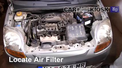 2005 Chevrolet Spark LS 0.8L 3 Cyl. Filtre à air (moteur)