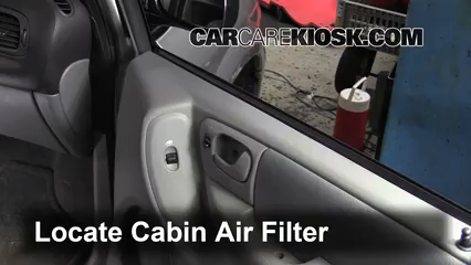 2005 Chrysler Town and Country Touring 3.8L V6 Filtro de aire (interior)