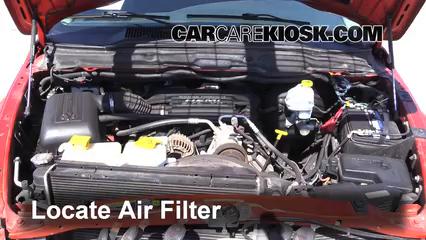 2005 Dodge Ram 1500 SLT 5.7L V8 Standard Cab Pickup (2 Door) Filtre à air (moteur)