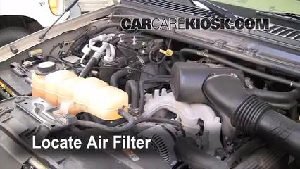 2005 Ford Excursion Limited 6.8L V10 Filtro de aire (motor)