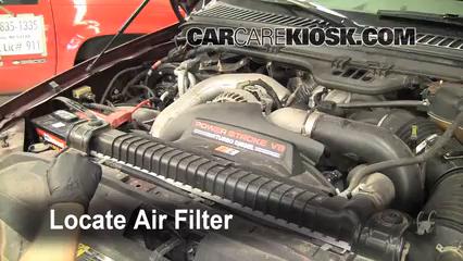 2005 Ford F-250 Super Duty XLT 6.0L V8 Turbo Diesel Crew Cab Pickup (4 Door) Filtro de aire (motor)