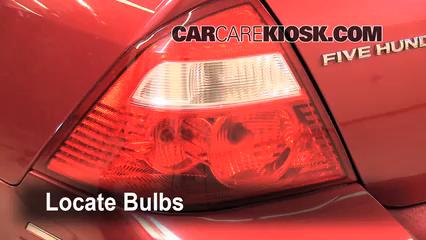 2005 Ford Five Hundred SEL 3.0L V6 Éclairage Feux de position arrière (remplacer ampoule)
