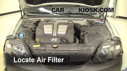 2005 Hyundai Tiburon GT 2.7L V6 Air Filter (Engine)