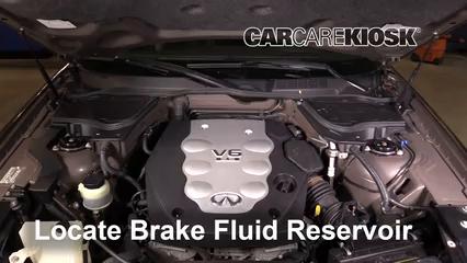 2005 Infiniti FX35 3.5L V6 Brake Fluid