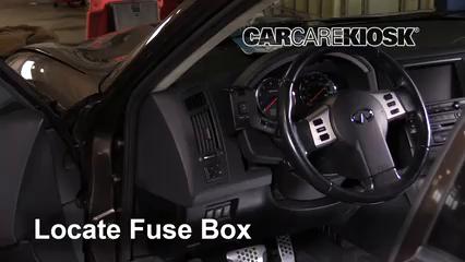 interior fuse box location: 2003-2008 infiniti fx35 - 2006 infiniti fx35  3.5l v6  carcarekiosk