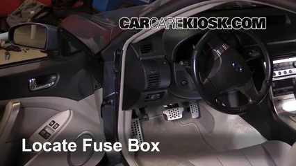 interior fuse box location: 2003-2007 infiniti g35 - 2003 infiniti g35 3.5l  v6 coupe (2 door)  carcarekiosk