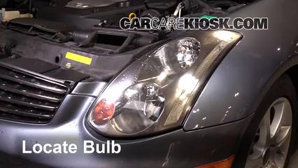 2005 Infiniti G35 3.5L V6 Coupe (2 Door) Luces Luz de niebla (reemplazar foco)