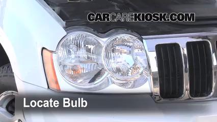 2005 Jeep Grand Cherokee Limited 5.7L V8 Luces Luz de carretera (reemplazar foco)