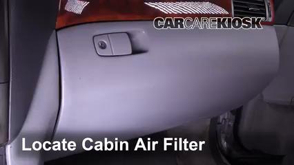2005 Lexus LS430 4.3L V8 Filtro de aire (interior)