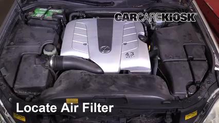 2005 Lexus LS430 4.3L V8 Air Filter (Engine)