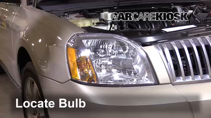 2005 Mercury Montego Premier 3.0L V6 Luces Luz de carretera (reemplazar foco)