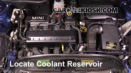2005 Mini Cooper 1.6L 4 Cyl. Coupe Refrigerante (anticongelante) Sellar pérdidas