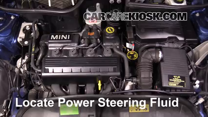 2005 Mini Cooper 1.6L 4 Cyl. Coupe Pérdidas de líquido Líquido de dirección asistida (arreglar pérdidas)