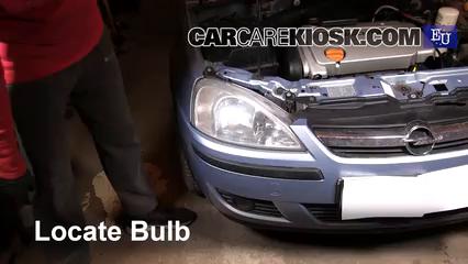 2005 Opel Combo C CNG 1.6L 4 Cyl. Luces Luz de marcha diurna (reemplazar foco)