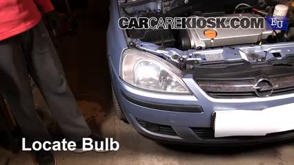 2005 Opel Combo C CNG 1.6L 4 Cyl. Luces Luz de niebla (reemplazar foco)