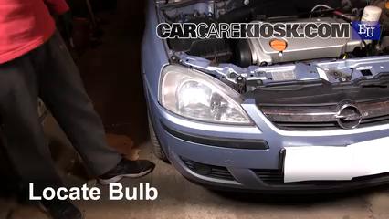 2005 Opel Combo C CNG 1.6L 4 Cyl. Luces Faro delantero (reemplazar foco)