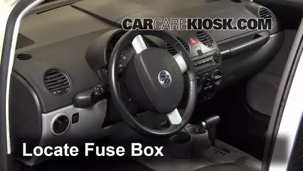 Interior Fuse Box Location 1998 2005 Volkswagen Beetle 2001 Volkswagen Beetle Gl 2 0l 4 Cyl