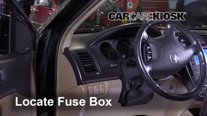interior fuse box location 2001 2006 acura mdx 2005. Black Bedroom Furniture Sets. Home Design Ideas