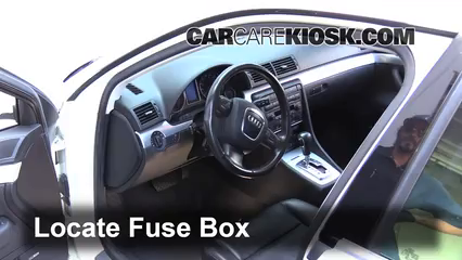 interior fuse box location 2002 2008 audi a4 2005 audi a4 3 0l v6 rh carcarekiosk com fuse box location audi a4 2005