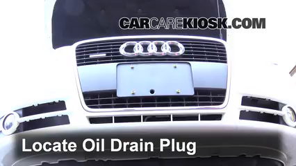 2006 Audi A4 Quattro 2.0L 4 Cyl. Turbo Oil Change Oil and Oil Filter