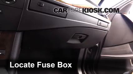 interior fuse box location 2004 2010 bmw 545i 2005 bmw. Black Bedroom Furniture Sets. Home Design Ideas