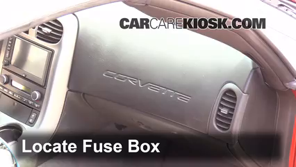 interior fuse box location 2005 2013 chevrolet corvette 2006 rh carcarekiosk com corvette fuse box 1982 corvette fuse box lock pin