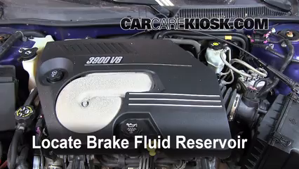 2006 Chevrolet Monte Carlo LT 3.9L V6 Brake Fluid Add Fluid