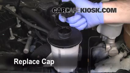 Replace Cap Secure The Power Steering Fluid Cap Back In Place