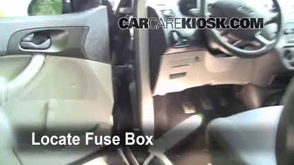 interior fuse box location: 2005-2007 ford focus