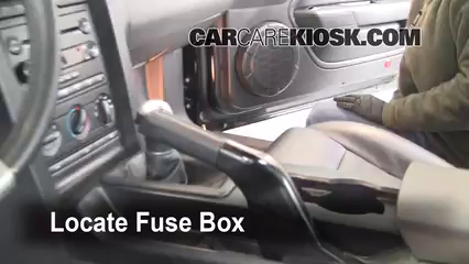 interior fuse box location 2005 2009 ford mustang 2006 ford 1989 Ford Tempo Fuse Box Location