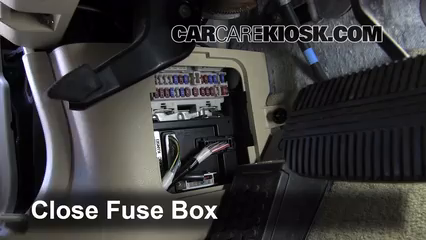 interior fuse box location: 2003-2007 infiniti g35 - 2006 infiniti g35 x  3 5l v6