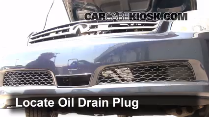 2006 Infiniti G35 X 3.5L V6 Oil Change Oil and Oil Filter