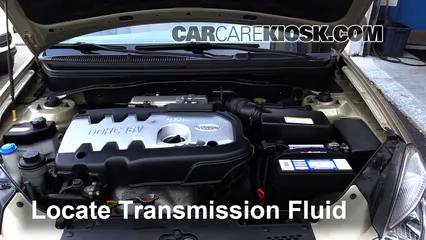 add transmission fluid 2006 2011 kia rio 2006 kia rio 1 6l 4 cyl rh carcarekiosk com kia rio automatic transmission fluid change 2008 kia rio manual transmission fluid