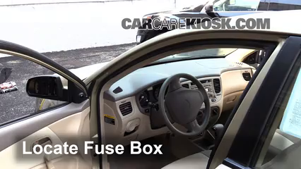 Interior Fuse Box Location: 2006-2011 Kia Rio - 2006 Kia Rio ... on kia rio bumper cover, kia sephia fuse box, kia rio condenser, kia rio blower motor, kia rio alternator fuse, kia rio hood, kia rio catalytic converter, kia rio relay, kia rio trunk release, kia rio ignition switch, kia rio strut, kia rio fog lamp, kia rio a/c compressor, kia rio trunk latch, kia rio water pump, kia rio ground effects, kia rio cabin filter, kia rio armrest, kia rio evap canister, kia rio trunk lid,